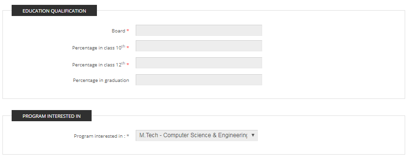 Step 3: The candidate must enter their educational details and preference.
