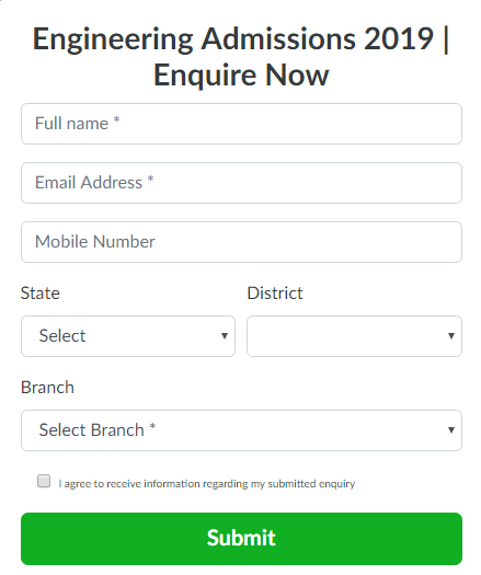Enquiry Form - Bannari Amman Institute of Technology, Coimbatore