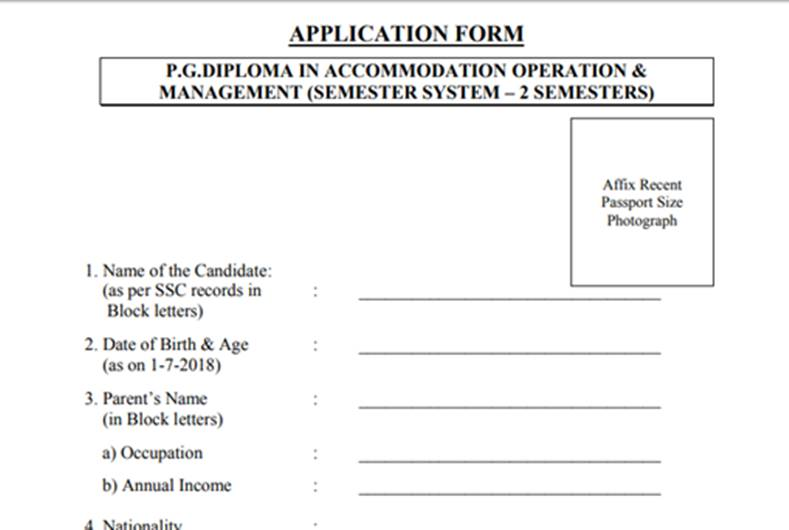 Application form preview