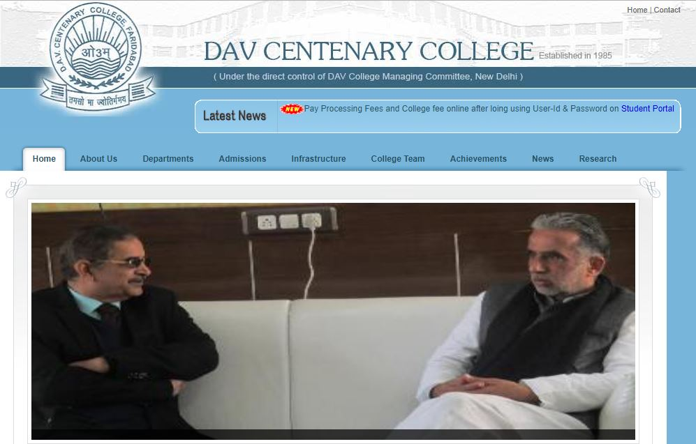 Home Page of DAV College