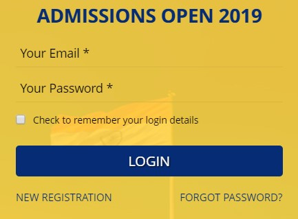 Login Form - OP Jindal Global University, Sonepat