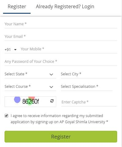 Registration Process-APG Shimla University, Shimla
