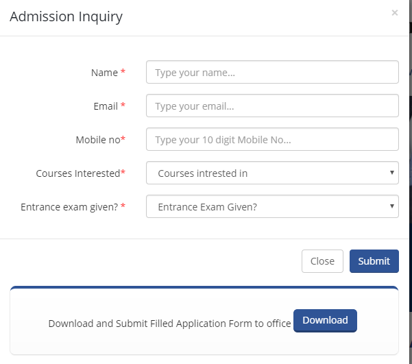 Application Form-MAEER's MIT School of Management, Pune