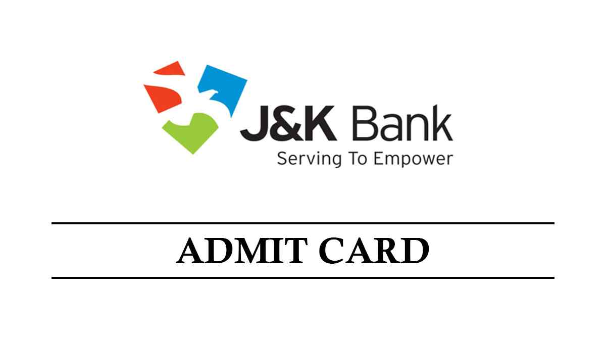 JK Bank Admit Card 2021 - Check Associates, PO Admit Card Date and Download Pdf