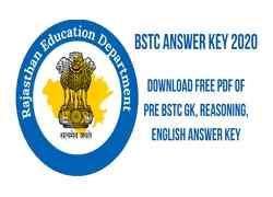 BSTC Answer Key2021: Download Free Pdf of Pre BSTC GK, Reasoning, English Answer Key