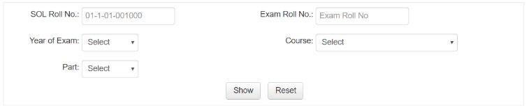 Delhi University SOL Results Image