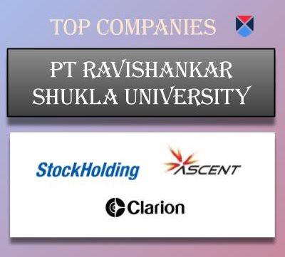 Pt Ravishankar Shukla University, [PRSU] Raipur - Placements