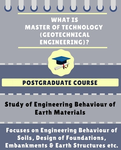 What is Master of Technology [M. Tech] (Geotechnical Engineering)?