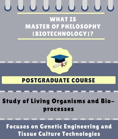 What is Master of Philosophy [M.Phil](Biotechnology)?