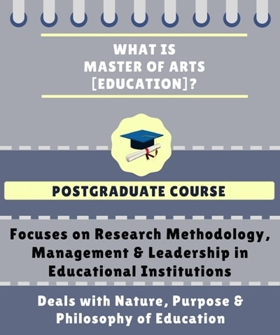 What is Master of Arts [MA] (Education)?
