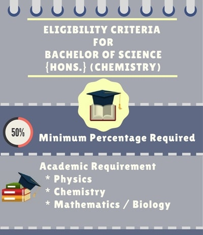 Eligibility Criteria for Bachelor of Science [B.Sc] {Hons.} (Chemistry)