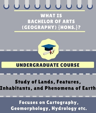 What is Bachelor of Arts [BA] {Hons.} (Geography)?
