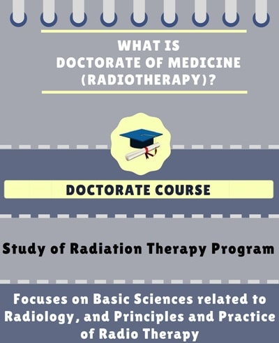 What is Doctorate of medicine [MD] (Radiotherapy)?
