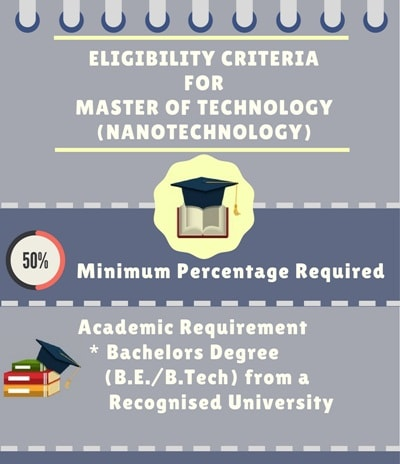 Eligibility Criteria for Master of Technology [M.Tech](Nanotechnology)Eligibility Criteria for Master of Technology [M.Tech](Nanotechnology)