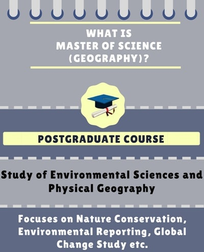 What is Master of Science [M.Sc] (Geography)?
