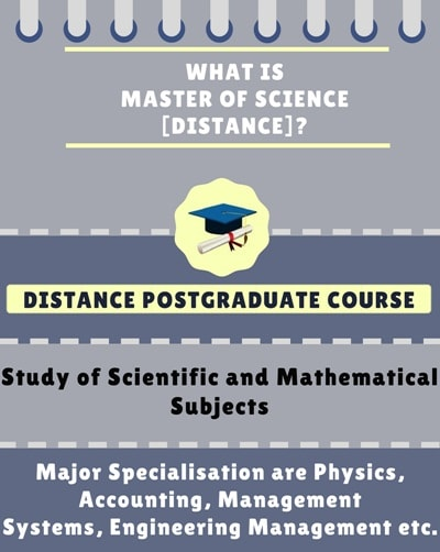 What is Distance Master of Science[M.Sc] ?
