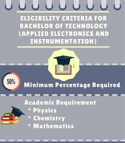 Eligibility Criteria for Bachelor of Technology [B.Tech] (Applied Electronics and Instrumentation)
