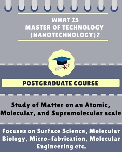 What is Master of Technology [M.Tech] (Nanotechnology)?