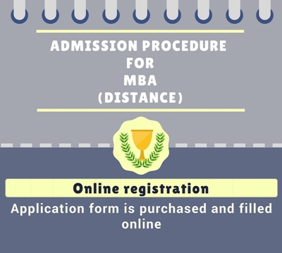 Admission procedure Distance Master of Business Administration [MBA]: