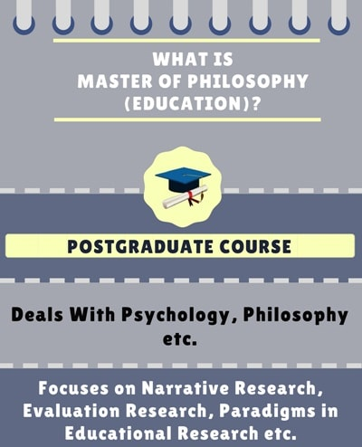 What is Master of Philosophy [M.Phil.](Education)?