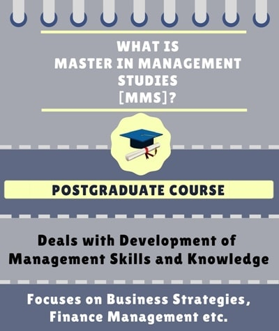 What is Master in Management Studies [MMS]?
