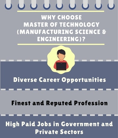 Why Choose Master of Technology [M.Tech] (Manufacturing Science & Engineering)?