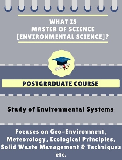 What is Master of Science [M.Sc] (Environmental Science)?