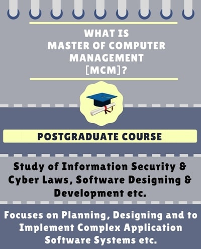 What is Master of Computer Management [MCM]?
