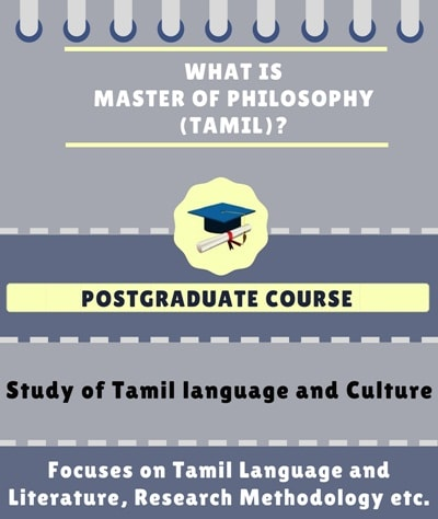 What is Master of Philosophy [M.Phil] (Tamil)?