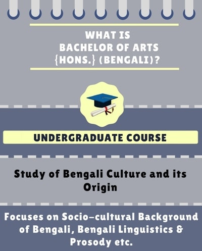 What is Bachelor of Arts [BA] {Hons.} (Bengali)?