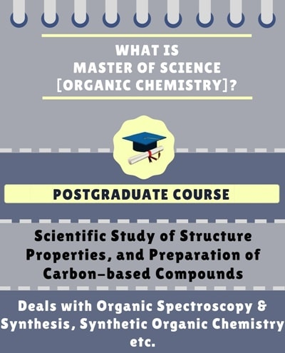 What is Master of Science [M.Sc] (Organic Chemistry)?