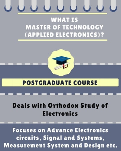 What is Master of Technology [M.Tech] (Applied Electronics)?