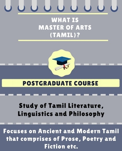 What is Master of Arts[MA] (Tamil)?