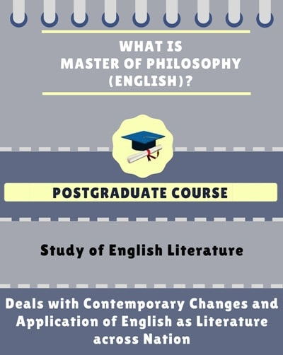 What is Master of Philosophy [M.Phil] (English)?