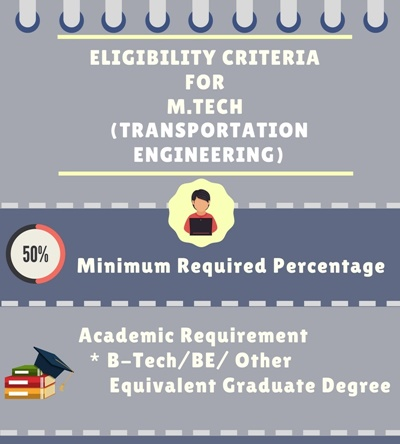 eligibility criteria for master of technology in transportation engineering