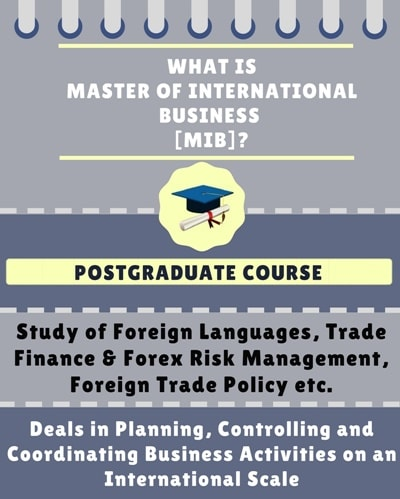 What is Master of International Business [MIB]?