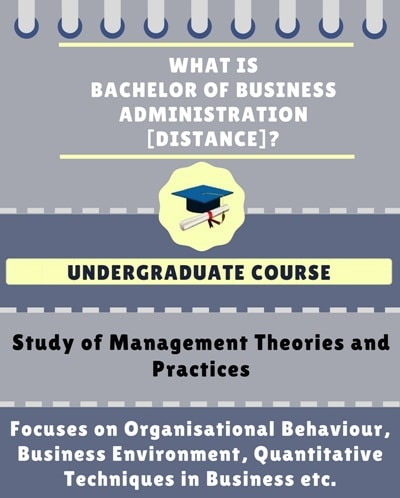 What is Distance Bachelor of Business Administration [BBA]?