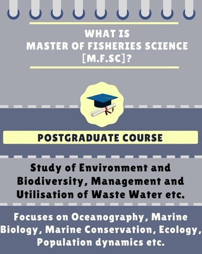 What is Master of Fisheries Science [M.F.Sc]?