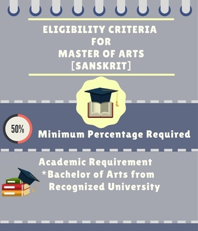 Eligibility Criteria for Master of Arts [MA] (Sanskrit):