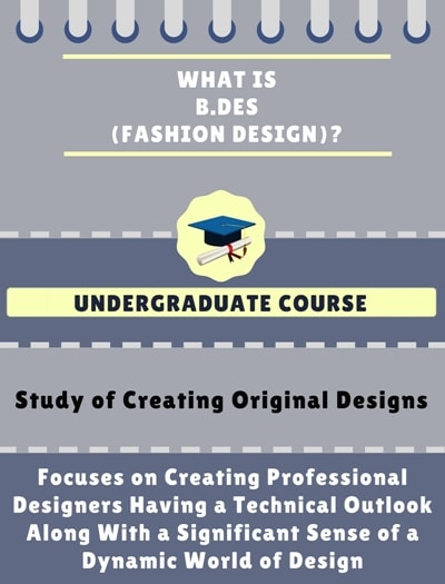 What is Bachelor of Design [B.Des] (Fashion Design)?