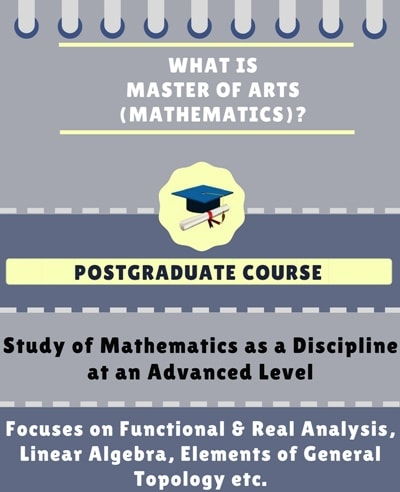 What is Master of Arts [MA] (Mathematics)?