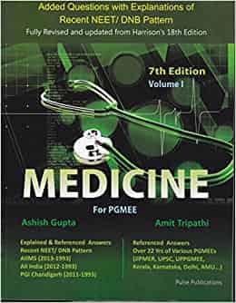 Medicine for PGMEE Vol 1 by Ashish Gupta & Amit Tripathi