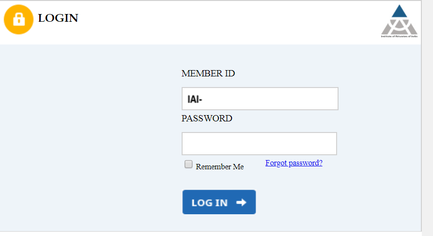 ACET Student Login Page