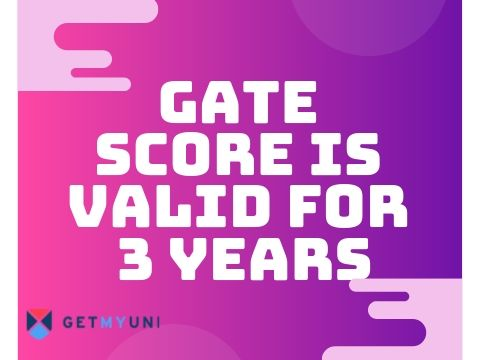 GATE Score Validity - 3 years