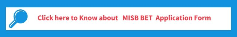 MISB BET 2018 Application Form