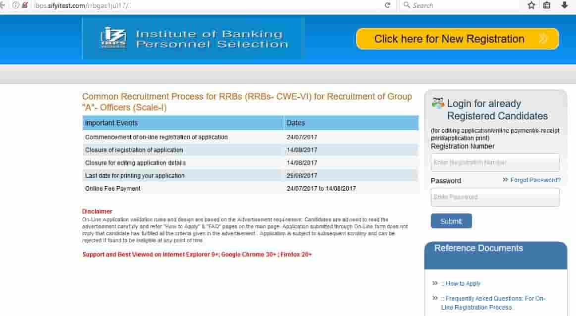 IBPS RRB Application Process