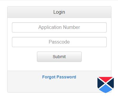 Admit Card login form