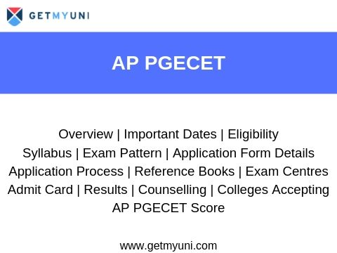 AP PGECET 2019 Result, Rank List, Cut-off, Counselling