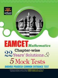 EAMCET Mathematics Andhra Pradesh Common Entrance Test: Chapter-wise 22 Years' Solutions and 5 Mock Tests (Paperback)