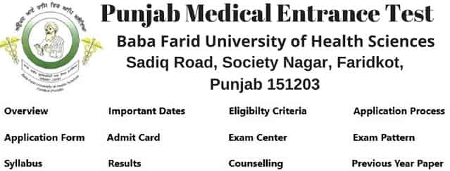 Punjab Pmet 2018 Application Form Dates Syllabus Pattern